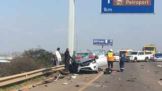 The N2 freeway in Durban came to a standstill two weeks ago when police killed four hijackers targeting luxury and fast cars to use as getaway cars in robberies. Picture: Daily News