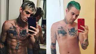 """Aaron Carter """"feels amazing"""" after gaining weight. Picture: Instagram"""
