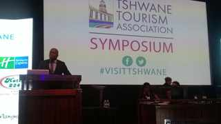 Mayor Solly Msimanga at the CSIR International Convention Centre. Picture: James Mahlokwane