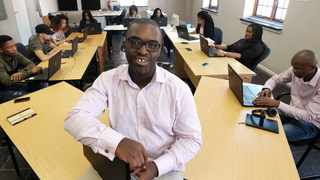Chief Innovation Officer, Wesley Diphoko, and his team. File Image: IOL