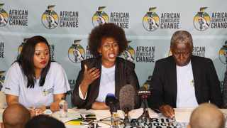 African Democratic Change leaders at the launch of the new political party. Left: Feziwe Ndwayana (spokesperson), Dr Makhosi Khoza (founder and president) and fundraiser Isaac Shongwe. File picture: Simphiwe Mbokazi/ANA