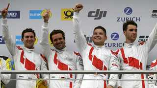 Kelvin van der Linde was a member of the team that won the Nurburgring 24 Hours - that's him on the right. File photo: Audi