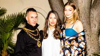 Jeremy Scott, Ann-Sofie Johansson and Gig Hadid. Picture: Rony Alwin.