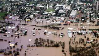 A general view of the town of Chinchilla affected by floods in Queensland, Australia.
