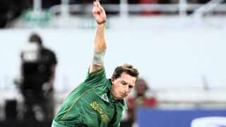 Dale Steyns bowling speed is measured by a device invented by another top South African, Henri Johnson. Picture: Reuters