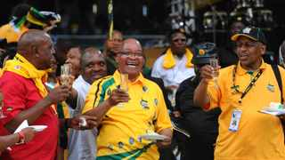 The ANC's 100 year centenary celebration day which was held at the freestate Stadium which was attended by thousands of ANC supporters young and old , The Centenary flame was later brought in to start the oficial opening of the Birthday celebrations. Picture: Antoine de Ras , 08/02/2012