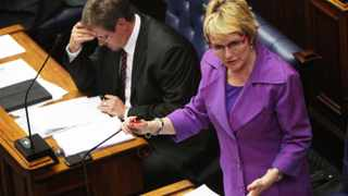 Zille at Prov leg on racism and twitter Photo by Jason Boud