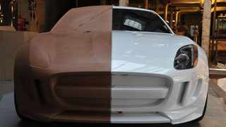 This full-sized model of the C-X16 concept shows that Jaguar has not given up on the idea of sculpting beautiful lines with clay.