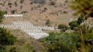 """Satuarday the 2nd of June 2012 at the annual white cross monument """"Witkruismonument"""" in Ysterberg just outside Polokwane. Each cross represents a farmer that has been killed in a farm murder in South Africa. Picture. Adrian de Kock"""