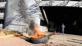 16/08/2012.TUT  Vice Chancellor's office after  student protest against various grievances. Picture : Sizwe Ndingane