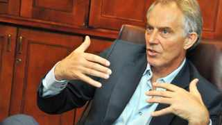 483 29/08/12 Former British Prime Minister Tony Blair answers some questions during an interview conducted at the Intercontinental Hotel in Sandton.  Picture: Ihsaan Haffejee