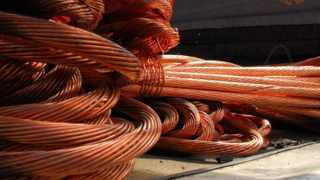 File picture - Stolen copper cables that were recovered from a scrap yard. Picture: Ihsaan Haffejee