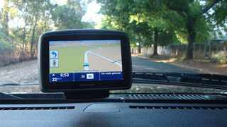 Satnav units such as this TomTom will tell you where to go but will not twell you to stop at intersections along the way.