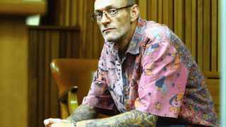 28/11/2012. Willem Pieterse in the dock at the Pretoria High Court during the Trial arising from the murder of the young mother Chanelle Henning.  Picture: Oupa Mokoena