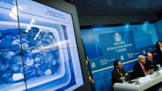 File photo: Spain recovered the treasure made of coins and other artifacts retrieved after a five-year legal wrangle with Odyssey Marine Exploration company who had found the shipwreck of Nuestra Senora de las Mercedes, a Spanish warship, that sank during a 1804 gun battle.