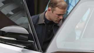 Soccer player Wayne Rooney, leaves Liverpool Womens Hospital with his wife Coleen and baby boy in Liverpool.