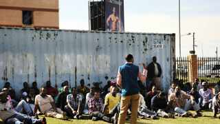 28/05/2013 Etheopian business owners from Diepsloot gathered at Diepsloot Joint Operations Centre to discuss their way forward after their shops were looted by residents of Diepsloot. Picture: Phill Magakoe