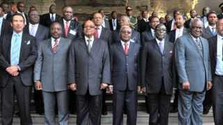 SADC heads of States and Governments at the Summit of the Regional body held at Joachim Chissano International Convention Centre in , Mozambique.15 June 2013