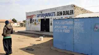 10/07/2013. One of the Somalian's shops that were looted in Slovo, a township near Mabopane.  Picture: Oupa Mokoena