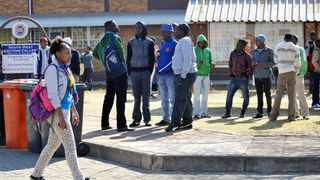 Mbali Rex at the South West Gauteng Futher Education and Training (FET) college's campus in Soweto after lectures embarked on a wildcat strike-leaving hundreds of student stranded.834 Picture: Matthews Baloyi 7/15/2013