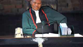 Chief Justice Moegoeng Moegoeng made his first Constitutional court appearance today to hear the applicants , about 350 families , who are contesting their viction from two plots of land in Mooiplats near Atteridgeville.  Picture: Antoine de Ras , 13/09/2011