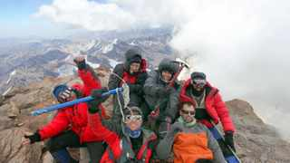 Durban adventurer Sean Wisedale and five other South Africans reached the highest mountain in South America  Mount Aconcagua (6 962m)  on Saturday afternoon. Seen at the summit are front row from left: Nolan Cohan, Sean Wisedale, Andrew Barnes. Back row from left: Marlette Hegyi, Wilmien van der Merwe and Scott Stanton.