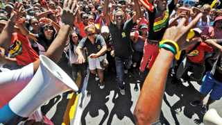 Cape Town - 140203 - The South African Students' congress (SASCO) marched to Parliament to hand over a memorandum. Reporter: Daneel Knoetze Picture: David Ritchie