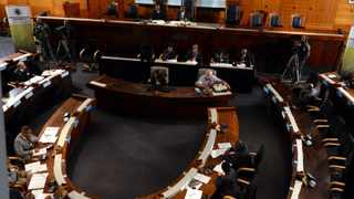 """Judges Musi and Seriti preside over the Arms Procurement Commission. The North Gauteng High Court on Wednesday ruled that the Seriti Commission had """"materially failed to do a job which it was appointed to do"""". File picture: Chris Collingridge"""