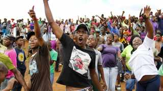916 2014/02/08 The revolted residents of  Bekkersdal bedan to protest against lack of service delivery in their area and they refused to register for the upcoming elections on May 7. Picture: Nicholas Thabo Tau