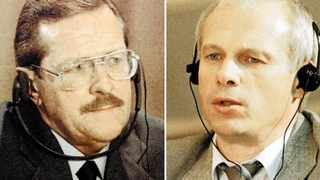 Clive Derby-Lewis, left, and Janusz Walus, right. File pictures: Juda Ngwenya