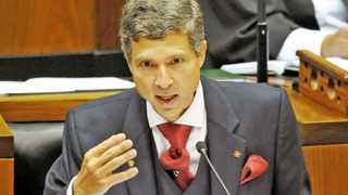 Cape Town - 140219 - The debate on President Jacob Zuma's State of the Nation Address (SONA) entered a second day today as opposition parties and ANC members took turns debating. Pictured is Mario Oriani-Ambrosini. Picture: David Ritchie