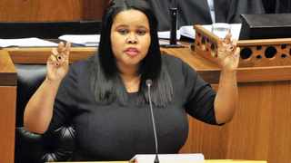 2014 SONA Speech Debate - (In the Pic -DA Leader Lindiwe Mazibuko delivering his speech).  Parliamentary Debate on the President Zuma's State of the Nation Address. 18/02/2014, National Assembly, Parliament, Cape Town, Elmond Jiyane, GCIS
