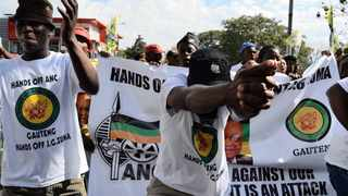 ANC Youth League members  and supporters march to the Mail and Guardian offices in Joburg, to deliver a memorandum regarding coverage in the paper that was deemed critical of President Jacob Zuma and the ANC. Picture: Motlabana Monnakgotla