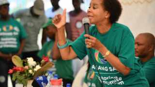 Agang SA leader Dr Mamphela Ramphele during her party's election campaign in Temba, Hammanskraal. Photo: Phill Magakoe