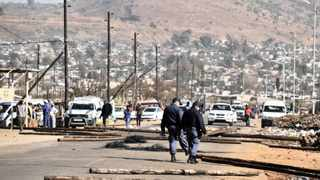 17/07/2014. The community members of Mamelodi gathered together to protest against poor service delivery by blocking some streets in the township.  Picture: Oupa Mokoena