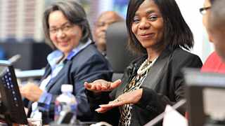 140911. Cape Town. Thuli Madonsela visits the Civic Centre as part of her annual dialogue with government about the Public Protector's mandate, role and co-operation with government. Mayor Patricia de Lille hosted the meeting, that was attended by representatives of the city, the Western Cape Government and other municipalities. Picture Henk Kruger/Cape Argus
