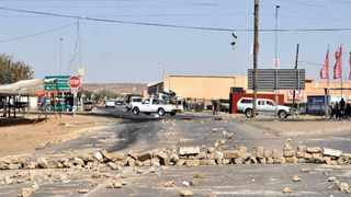15/09/2014. One of Soshanguve Block KK streets which was blocked during the service delivery protest. Picture: Oupa Mokena