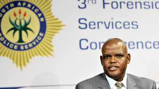 18/02/2015. Lieutanent-General Kgomotso Phahlane addressing the media during the third Forenic Service Conference at CSIR. Picture: Oupa Mokoena