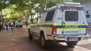 Police remain vigilant after looters ransacked stalls in St George's Mall in Cape Town's CBD. Picture: African News Agency