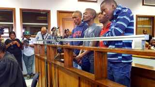 21.04.15. The four suspects in connection with the murder of Mozambican national Emmanuel Sithole appeared today at the Alexandra Magistrates Court. The 35-year-old Sithole was stabbed in Alexandra on Saturday morning and later died in hospital.  Picture: Dumisani Sibeko