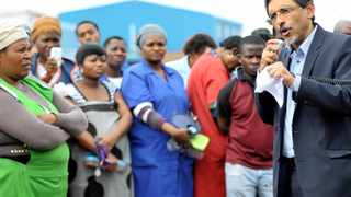 22/04/2015. Minister of Economic Development, Ebrahim Patel, address a general meeting of clothing factory workers in Pretoria, on the anti-xenophobia campaign.  Picture: Thobile Mathonsi