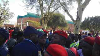 President Jacob Zuma arrived at the Tshwane University of Technology in Soshanguve amid chaos on the campus.