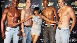 Previous winner of Fag Hag of the Year, Dineo Ranaka celebrates on the red carpet at the annual gay friendly Feather Awards. File picture: Paballo Thekiso