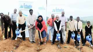Ithala Development Finance Corporation donated gardening tools to Ntingwe Primary School in KwaZulu Natal in this file photo. The writer says environmental issues are going to have a greater impact on the countrys fiscal health as issues such as climate change and water scarcity are becoming more important.