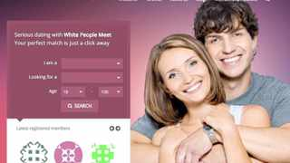 A screenshot from WhereWhitePeopleMeet.com, shows the sites controversial launch billboard.  Picture: The Washington Post