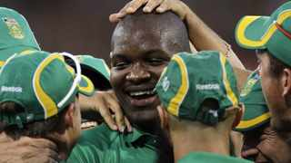 Lonwabo Tsotsobe in happier times with the Proteas.   Photo: Themba Hadebe, AP