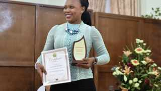 26/03/2016 Warrant Officer Sejeng Kgoete from Mpumalanga was awarded the best student for SAPS Crime Scene Examiner Programme.  Picture: Tankiso Makhetha