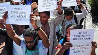 The extent of sexual violence in South Africa is well documented and it poses a substantial threat to our democratic project as a whole. With this in mind, campaigns like the one initiated by Stellenbosch Universitys SRC are important political struggles that we should all support, says the writer. Picture: David Ritchie