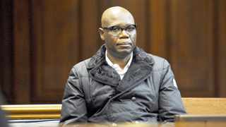 Zwelethu Mthethwa at the Cape Town High Court. He is accused of murdering 23-year-old alleged sex worker Nokuphila Kumalo in April 2013. Picture: Adrian de Kock/Independent Media