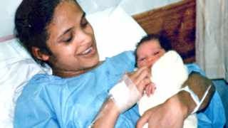 Celeste Nurse in hospital with Zephany before she was abducted.